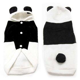 XIDAJE store Pet Dog Winter Warm Panda Clothes Puppy Hoodie Coat Doggy Cat Outfit Fancy Dress