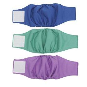 Wegreeco Washable Male Dog Belly Wrap – Pack of 3 (Xs, 10″- 14″ Waist)