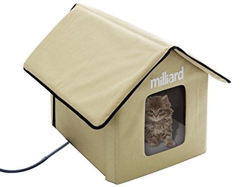 Milliard Portable Heated Outdoor Pet House, 22 x 18 x 17″