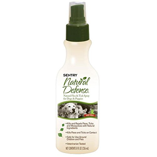Sentry Natural Defense Natural Flea and Tick Spray for Dogs and Puppies, 8-Fluid Ounce