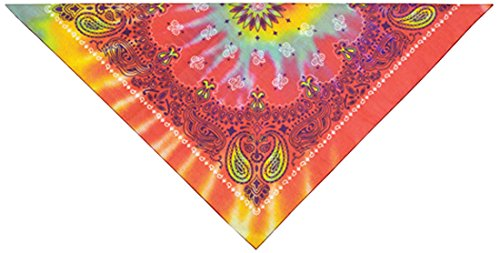 PetEdge Cotton/Polyester Paisley Dog Bandana, Tie Dye