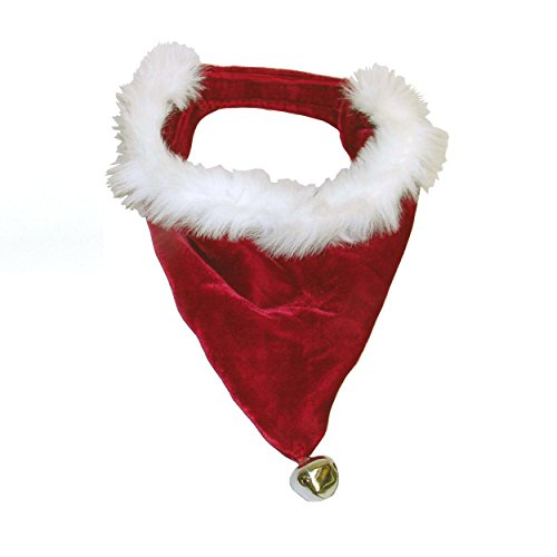 Outward Hound Kyjen 30042 Santa Dog Bandana Holiday and Christmas Accessories for Dogs, Large, Red