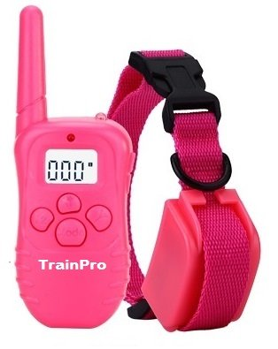 Lady TrainPro 300 Yard Rechargeable Waterproof Dog Training Bark Collar with Updated 2016 Crystal LCD Remote Control. Safely Turn Your Stubborn Pets Into Obedient Partners. Perfect Gift.
