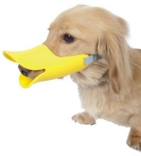 Pawliss Dog Mouth Cover Duck Mouth Shape Anti-bite Muzzle Small