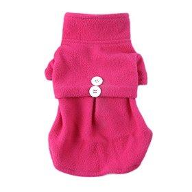 Silvercell Pet Dog Sweater Fleece Coats Apparel Shirt Dress Rose M