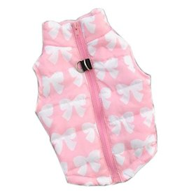 Urparcel Puppy Pet Dogs Padded Vest Harness Warm Coats Jackets Costumes Pink Small
