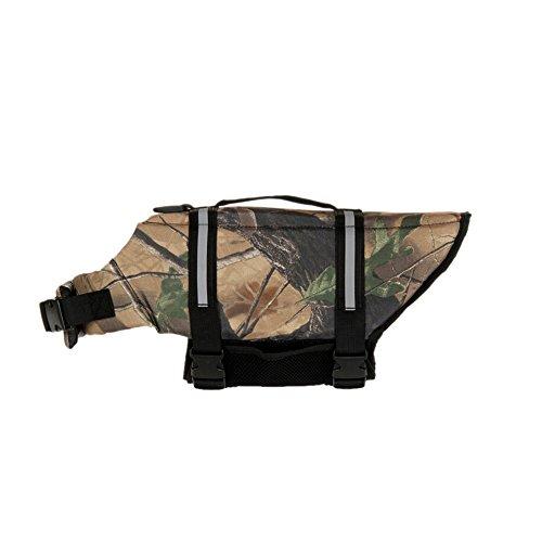 GOGO Hound Life Jacket, Dog Saver Life Vest LIGHTCAMO-XL