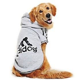 Eastlion Large Dog Warm Hoodies Coat Clothes Sweater Pet Puppy T Shirt Gray 8XL