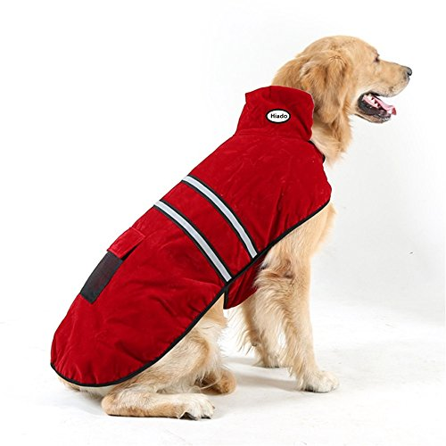 Hiado Dog Pets Winter Coat Vest Dressing with Reflective Belt for Hiking and Hunting in Cold Weather (Large, Big, 20 Inches Back Size)