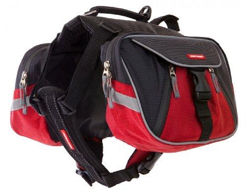 EzyDog Summit Dog Backpack, Large, Red/Black