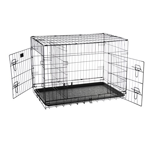 Pet Trex 2192 ABS 36 Inch Dog Crate Folding Pet Crate Kennel for Dogs, Cats or Rabbits, 36″