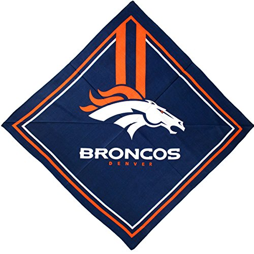 NFL Denver Broncos Full Color Fandana, L 3.5-Inch x W .5-Inch x H 6-Inch