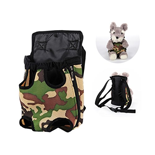 Lovely Baby Front & Back Pack Durable Breathable Comfortable Dog Carrier,Convenient Safe to Travel around Cycling Hiking Shopping Outdoor Activities LY-Carrier001-L