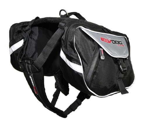 EzyDog Summit Dog Backpack, Small, Black/Charcoal