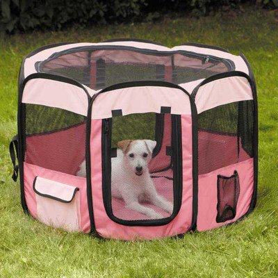 Guardian Gear Insect Shield Fabric Exercise Pen, Small, Pink