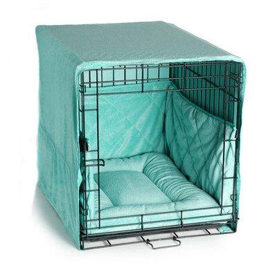 Plush Cratewear 3 Piece Dog Bedding Set Size: Small: 18″ W x 24″ D, Color: Seafoam Blue