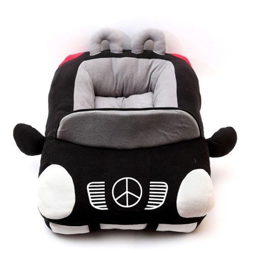 Jinpet Sports Cars Design Pet Beds For Small Dog Puppies Teddy Chihuahua Yorkie Cool Bed Black