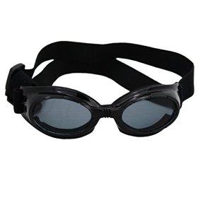 1pc Black New Fashionable Pet Dog Sunglasses Eye Wear Protection Waterproof Goggles (Black)