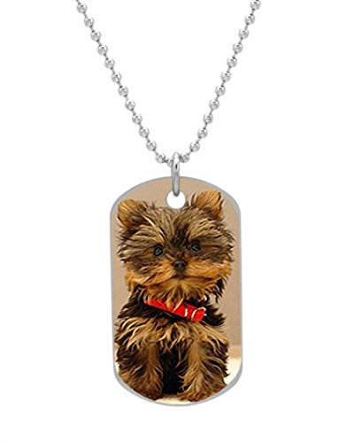 Boyden Park Fashion – Super cute puppy Printed Custom Oval Dog Tag,ID Pet tag Pendant Necklace Chain