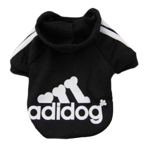 Imixcity Pet Dog Cat Sweater Puppy T Shirt Warm Hooded Coat Clothes Apparel(Black,M)