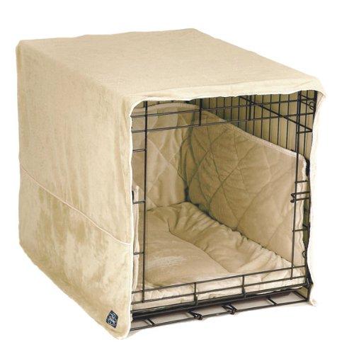 Pet Dreams Plush Cratewear Set, Ivory Fits 36-Inch Crates, 3-Piece