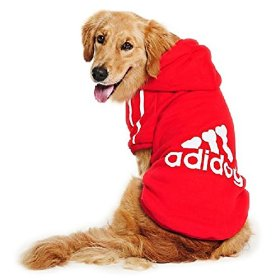 Eastlion adidog Large Dog Warm Hoodies Coat Clothes Sweater Pet Puppy T Shirt Red 9XL