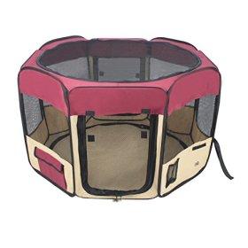 Jespet 45″ Foldable Portable Dog/Cat/Rabbit/Puppy Pet Playpen Exercise Pen Kennel 600D Oxford Cloth with Carry Bag