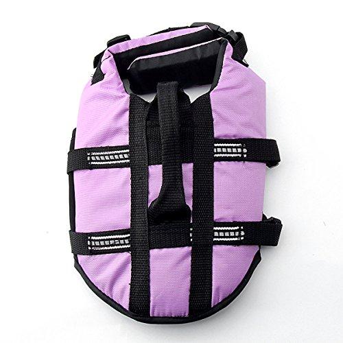 Pet Lifte Preserver – All Sizes – Dog Life Vest Jacket Doggy Life Jacket (Violet, Medium)