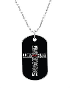 Christian Jesus The Cross of Words Letters Custom Unique image (one side) BIG-Size oval Dog Pet Tag 1.3 x 2.2 inches,best gift