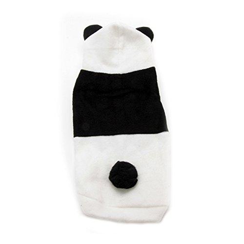 Leezo Pet Dog Cat Bunny Clothes Warm Clothes Puppy Costume Apparel Panda Ear Outfit XS