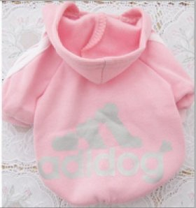 YYGIFT® Pet Dog Cat Sweatshirt Puppy Warm Hooded Jacket Fashion Style Clothes Apparel (XS, Pink)