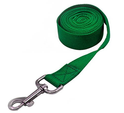 Pet Cuisine Nylon Long Dog Walking Leash For Harness Collar Cat Puppy Training Lead Rope 8 Feet Green