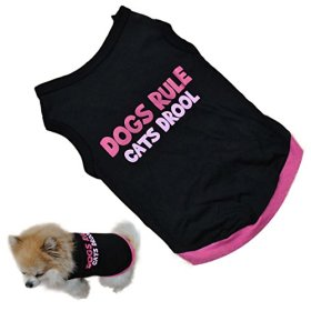 Voberry Pet Dog Puppy Cat Classic Quote T-shirt Doggy Clothes Cotton Shirts (M)