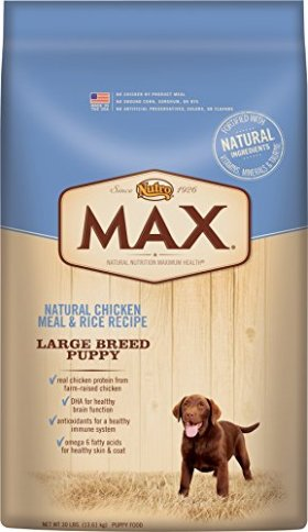 NUTRO MAX Large Breed Puppy Natural Chicken Meal and Rice Recipe 30 Pounds