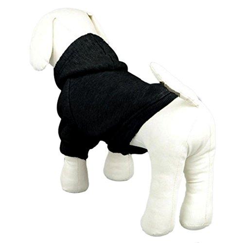 dzt1968 1 pc Fashion Winter Pet Puppy Dog Cat Coat Clothes Hoodie Sweater Costumes (S, BK)