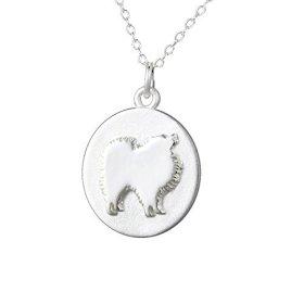 Mochi & Jolie Silver Pendant Necklace, Pomeranian