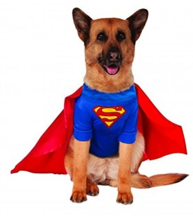 Big Dogs Superman Dog Costume, XXX-Large