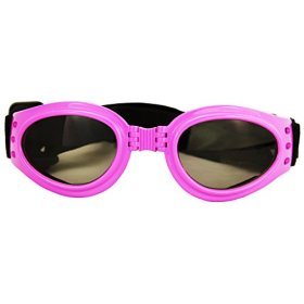 1pc Pink New Fashionable Pet Dog Sunglasses Eye Wear Protection Waterproof Goggles (Pink)