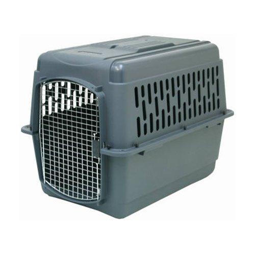 Aspenpet Pet Porter Kennel, For Pets 70-90 Pounds, Dark Gray