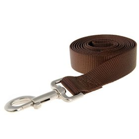 Dog Leash, Itery Pet Durable Leash Strap for Puppy Pet Leash Rope 6-feet Long 1″ Wide (Brown)