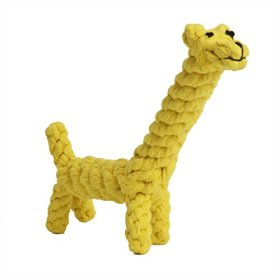 PetTa Cotton Dental Teaser Puppy Pet Chew Rope Toys for Large Small Dog Biting 8-inch,Giraffe