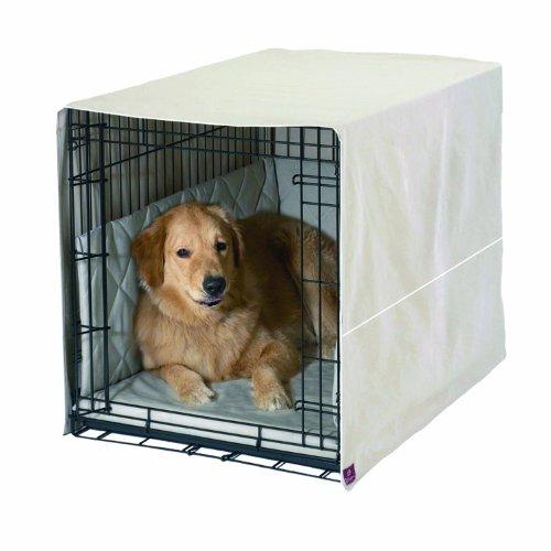 Pet Dreams Classic Cratewear Set Khaki Fits 30-Inch Crates, 3-Piece
