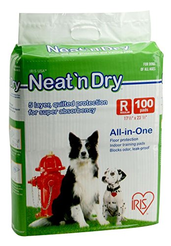 IRIS Neat 'n Dry Training Pads, 100-Count