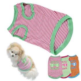 HP95(TM) Hot! Stripe Pet Puppy Summer Shirt Small Dog Cat Pet Clothes Vest T Shirt (XS, A)