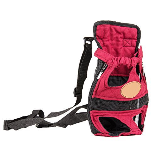 Cue Cue Pet Modernized Travel Red Pet Carrier Backpack (Medium)