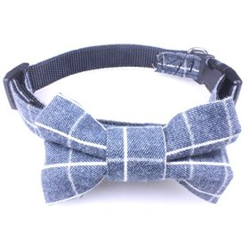 Dog Bow Tie Collar – Puppy Ties Cute Dog Collars – This Nylon Dog Collar is Perfect for Fancy Dogs. A Cool and Unique Dog Collar!