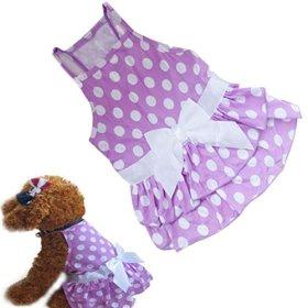 Binmer(TM)New Dog Clothes Puppy Dog Princess Dress Summer Sweet Dog Camisole Skirt Pet Dog Bowknot Tutu Dress (XS)