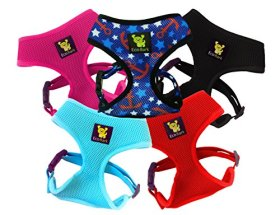 NEW! 1st Nature Friendly Mesh Harness on the Market! Small No Pull & No-Choke Control Ultra Soft Harness Hug Extra Padded Dog Walking/Running Variety of Sizes for Puppies and Small Dogs