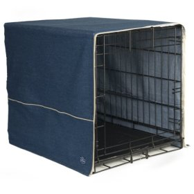 Pet Dreams 42 by 28-Inch Classic Crate Cover, X-Large, Denim