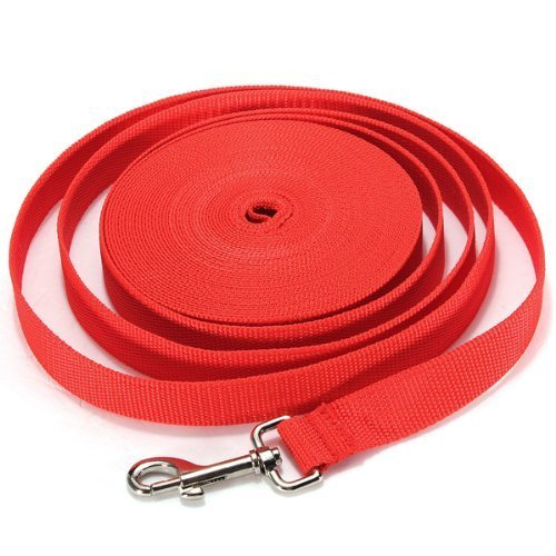 Water & Wood Red 30FT Long Dog Puppy Pet Puppy Training Obedience Lead Leash?¡